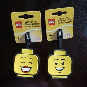 LEGO Luggage Tag Girl & Boy Face Set